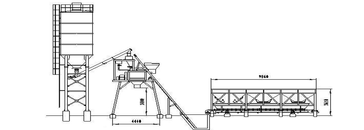 HZS75 batching plant indonesia drawing