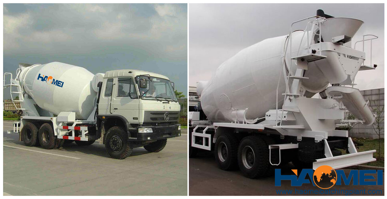 mobile concrete mixer truck