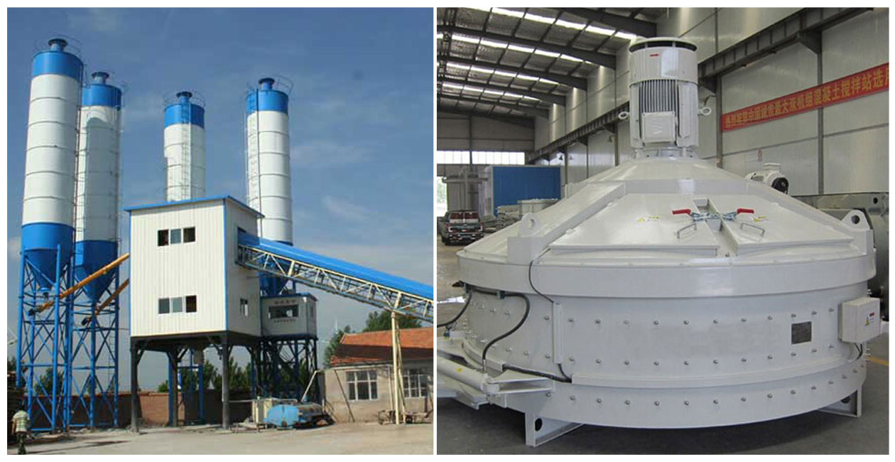 HZS60 Pan Mixer Concrete Batching Plant