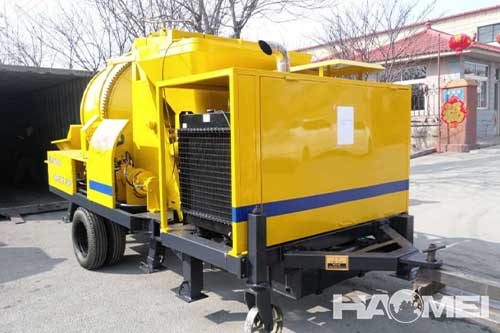 concrete pump mixer truck
